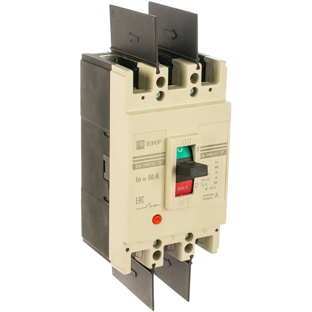 Автоматический трехполюсный выключатель ekf ва-99м/63 50а 20ка mccb99-63-50m