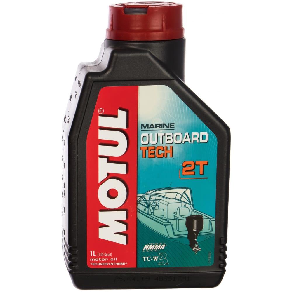 Масло для лодочных моторов outboard tech 2t 1 л motul 102789