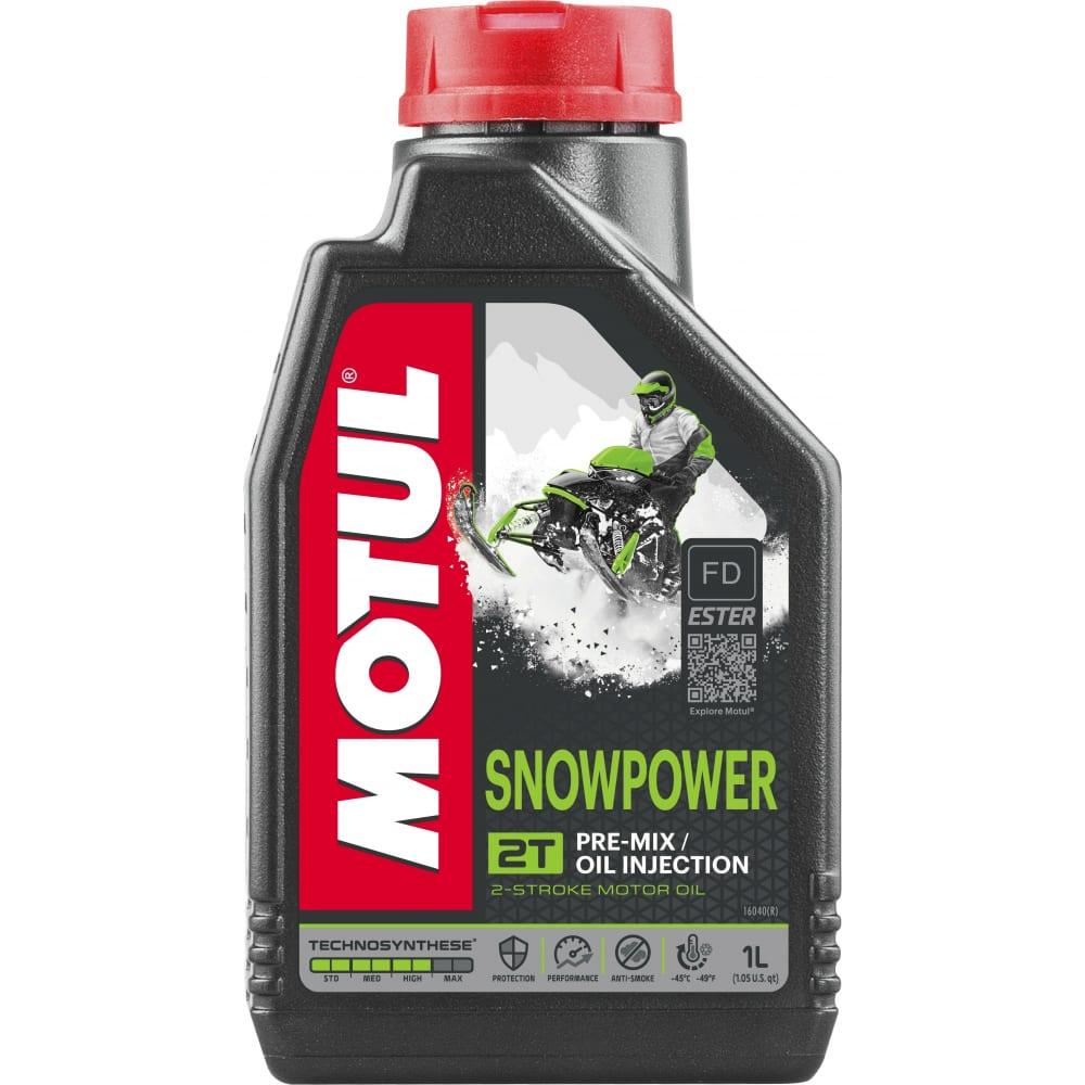 Масло для снегоходов snowpower 2t 1 л motul 105887