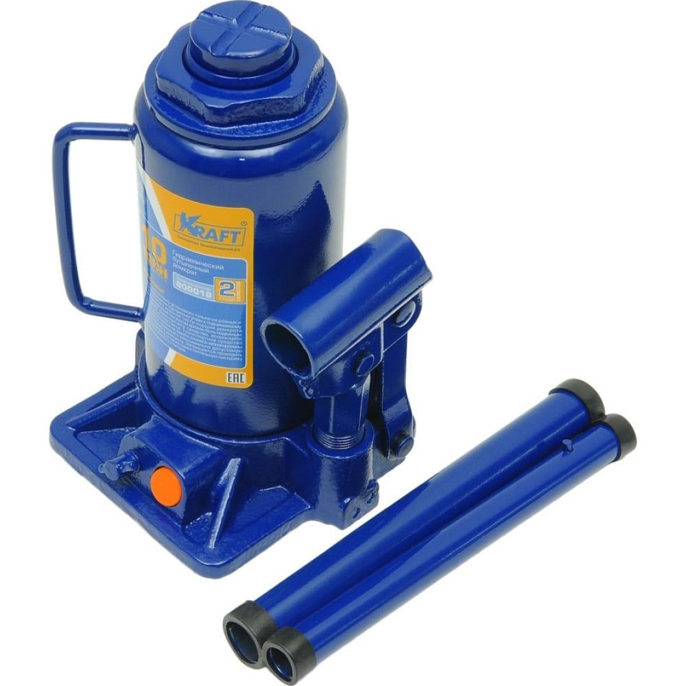 Бутылочный домкрат kraft 10 т, min 205mm-max 400mm kt 800018
