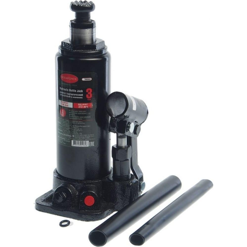 Купить Гидравлический бутылочный домкрат с клапаном rockforce 3т выс.подъема 194-372мм rf-t90304s