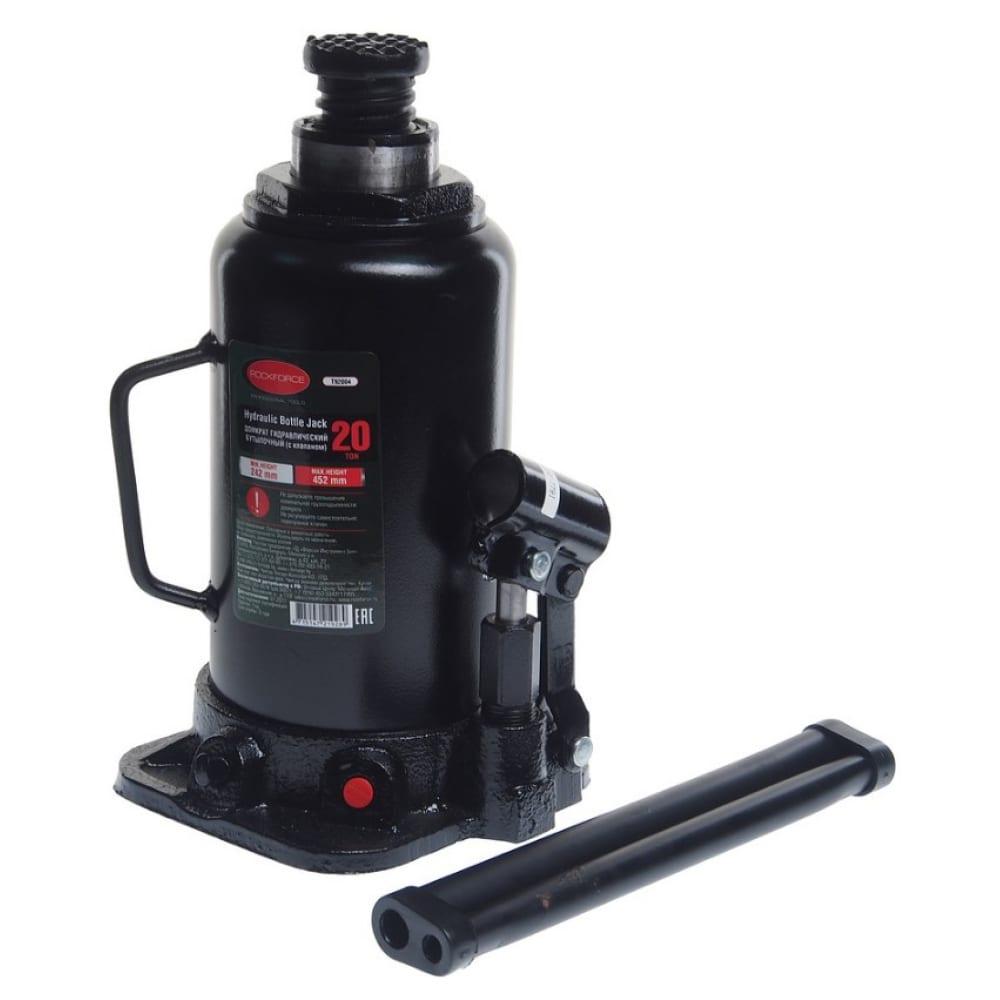 Купить Гидравлический бутылочный домкрат с клапаном rockforce 20т выс.подъема 242-452мм/2 rf-t92004