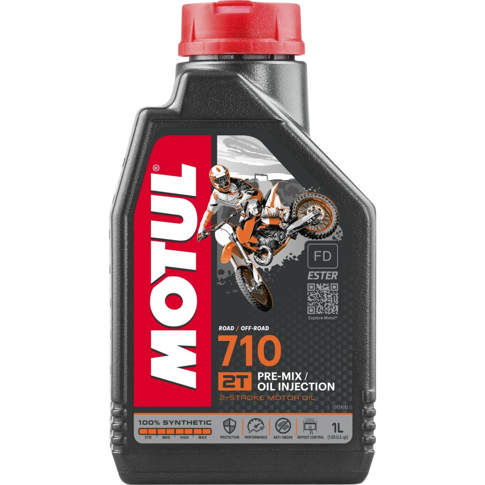 Моторное масло 710 2t 1 л motul 104034