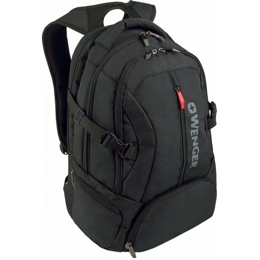 Купить Рюкзак wenger 16 , черный, 35x27x46 см, 27 л 600636