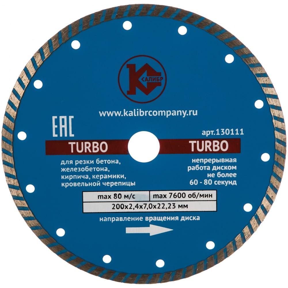 Диск алмазный turbo (200x22.2 мм) калибр 00000000421.