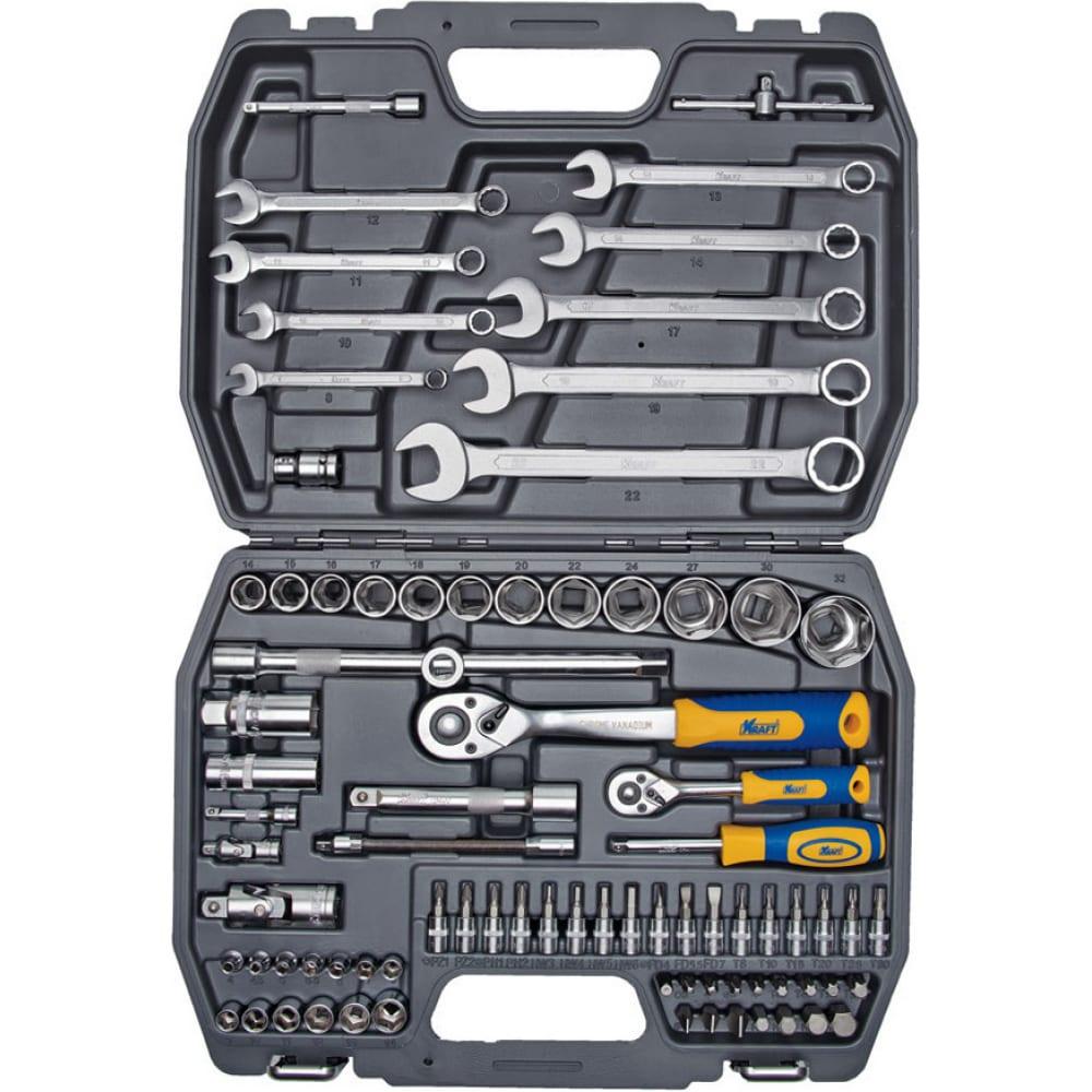 Набор инструмента 1/2 dr и 1/4 dr 82 предмета kraft kt 700305.