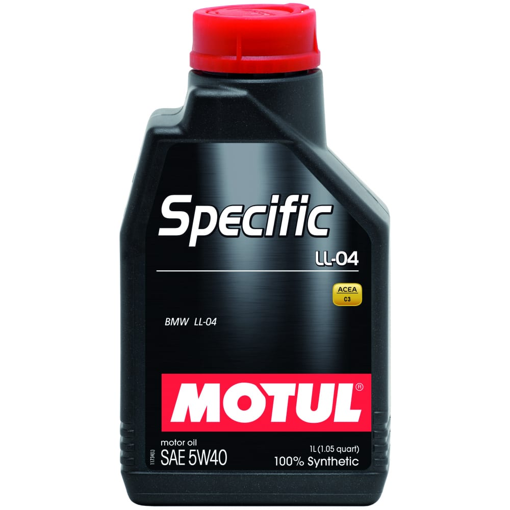 Синтетическое масло specific ll-04 bmw 5w40 1 л motul 101272