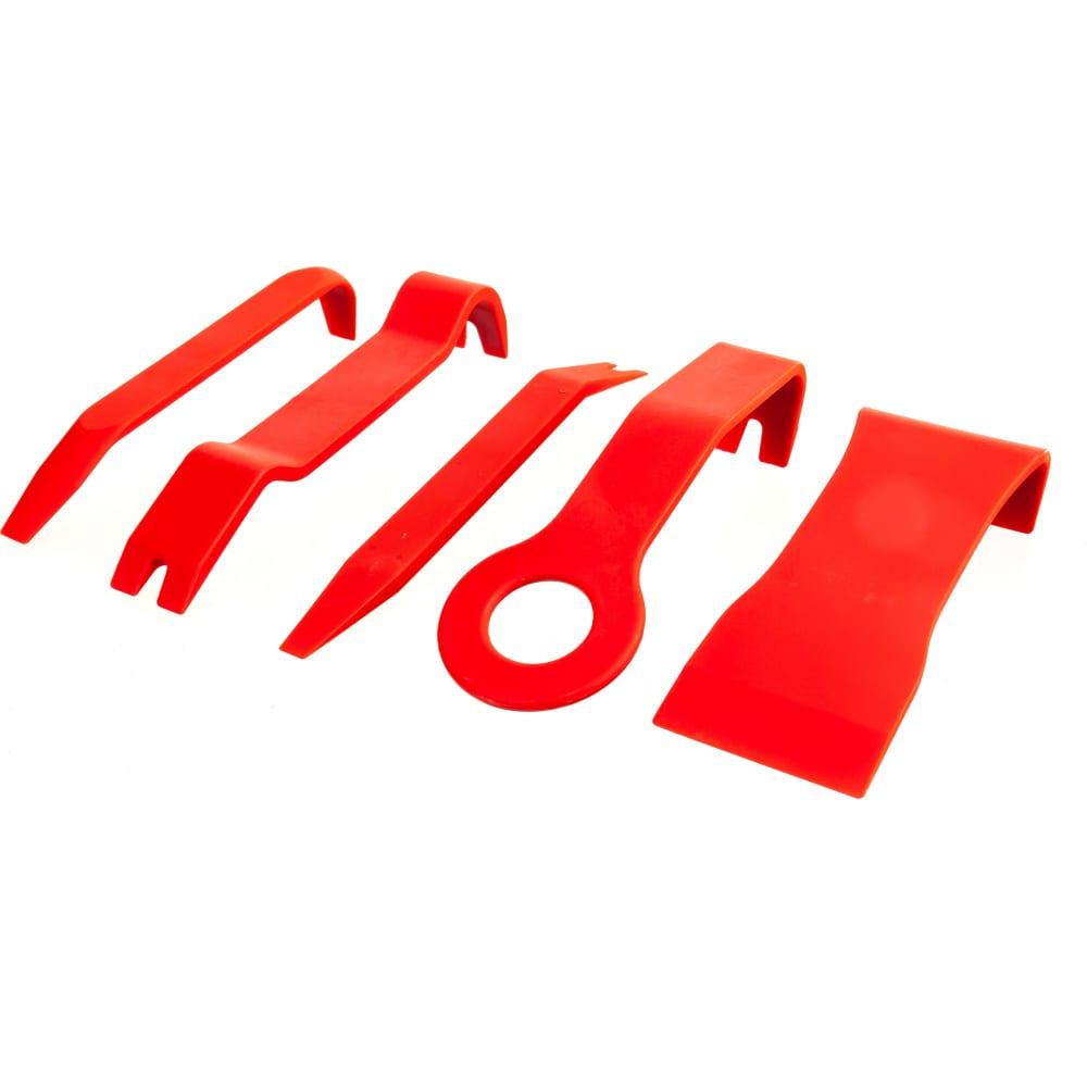 Набор съемников для демонтажа облицовочных панелей, 5 шт эврика er-86205  - купить со скидкой