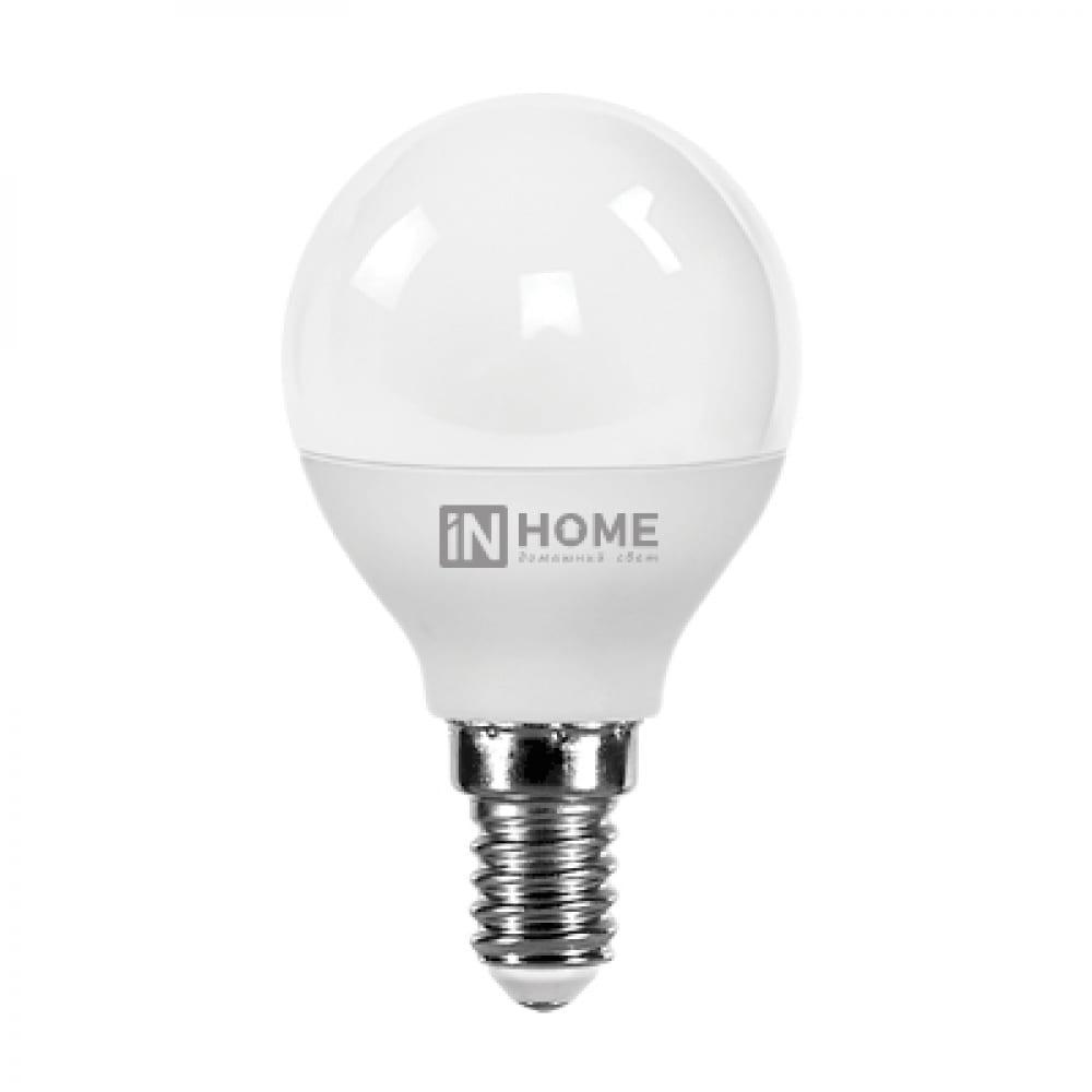 Светодиодная лампа in home led-шар-vc 8вт 230в е14 3000к 600лм 4690612020549  - купить со скидкой