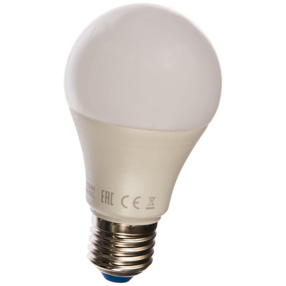 Светодиодная лампа uniel led-a60-10w/nw/e27/fr/24-48v plo55wh. ul-00002382
