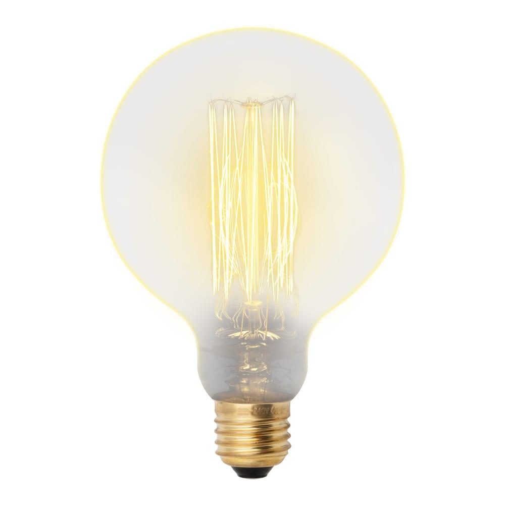 Лампа накаливания uniel vintage. форма шар il-v-g125-60/golden/e27 vw01 ul-00000480