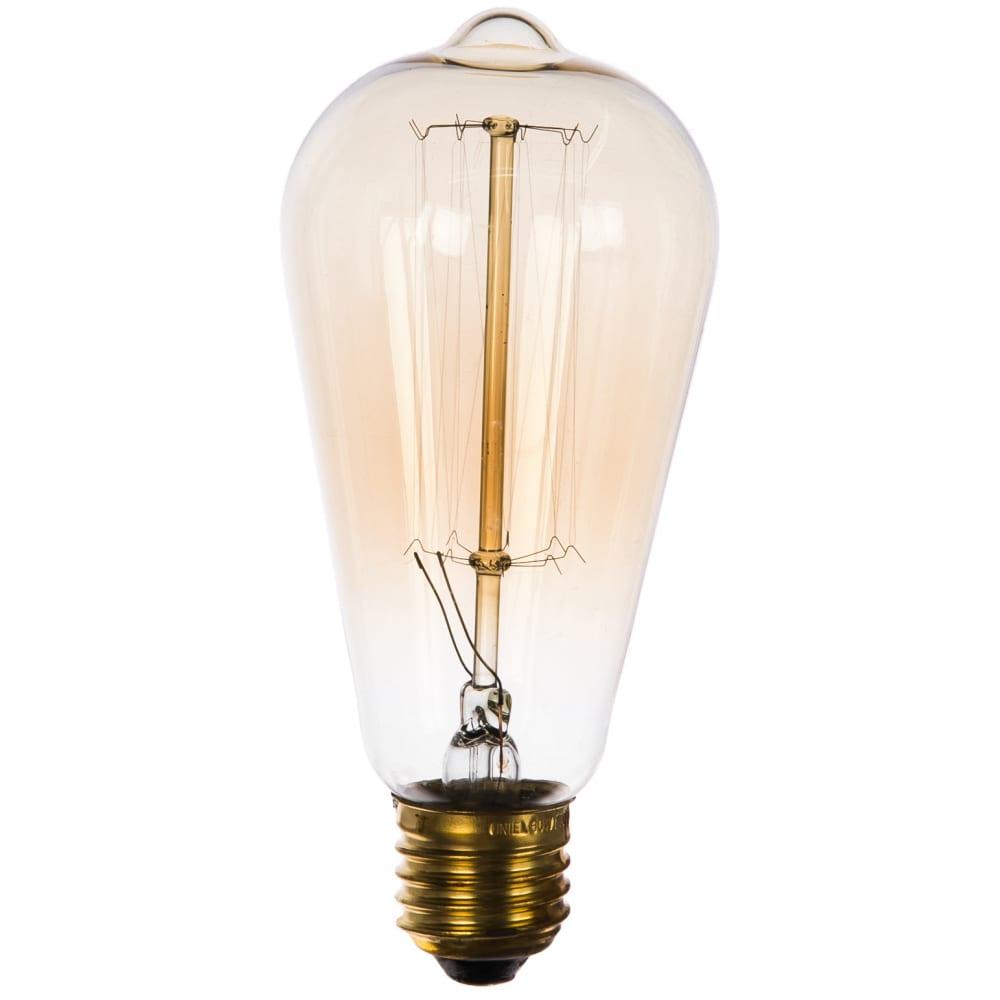 Лампа накаливания uniel vintage. форма конус il-v-st64-60/golden/e27 vw02 ul-00000482