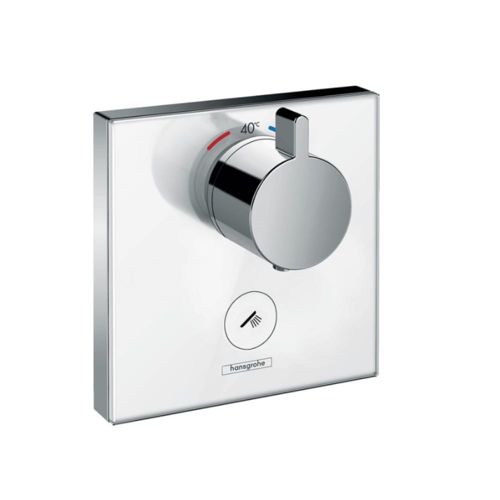Термостатический смеситель для душа hansgrohe select glass highflow 00000043956.