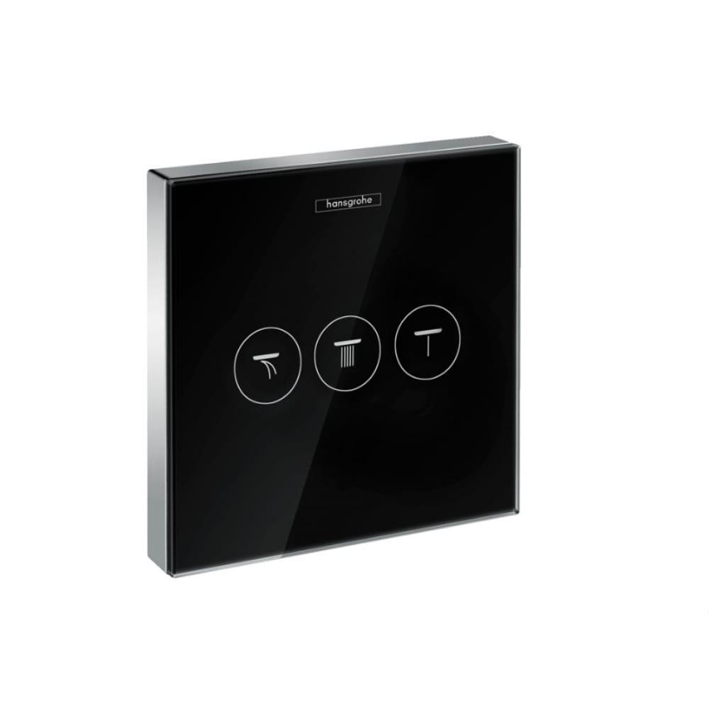 Вентиль hansgrohe select glass 15736600 trio/quattro запорный/переключающий 00000044224.