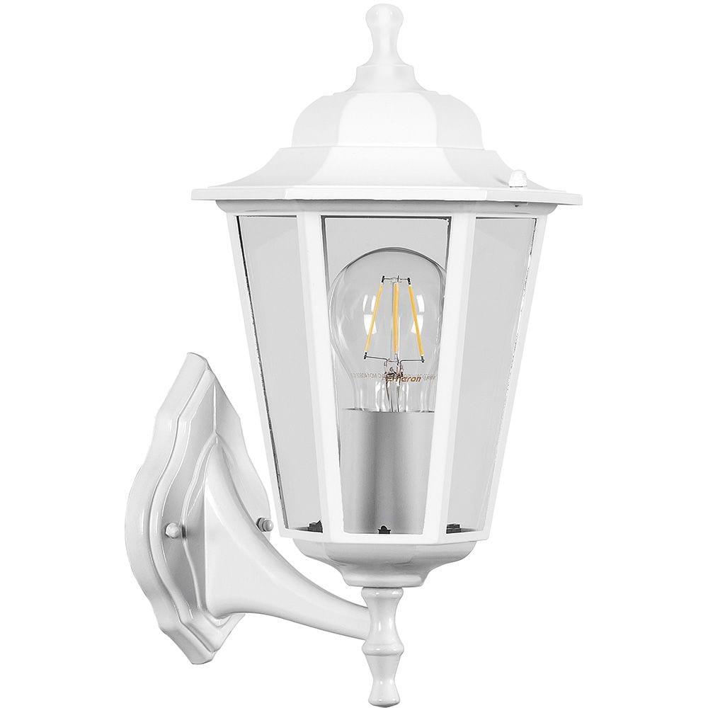 Садово-парковый светильник feron 60w 230v e27 белый нбу 06-60-001 32268.