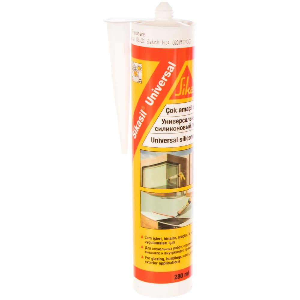Купить Универсальный клей-герметик sika sikasil белый 300 мл 340
