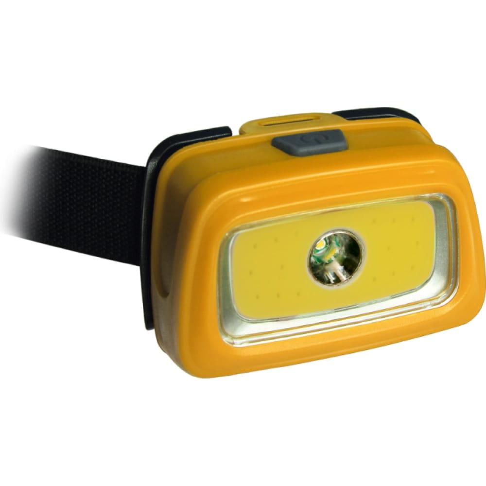 Купить Светодиодный налобный фонарь космос 1вт + 3вт сов направлен 511074