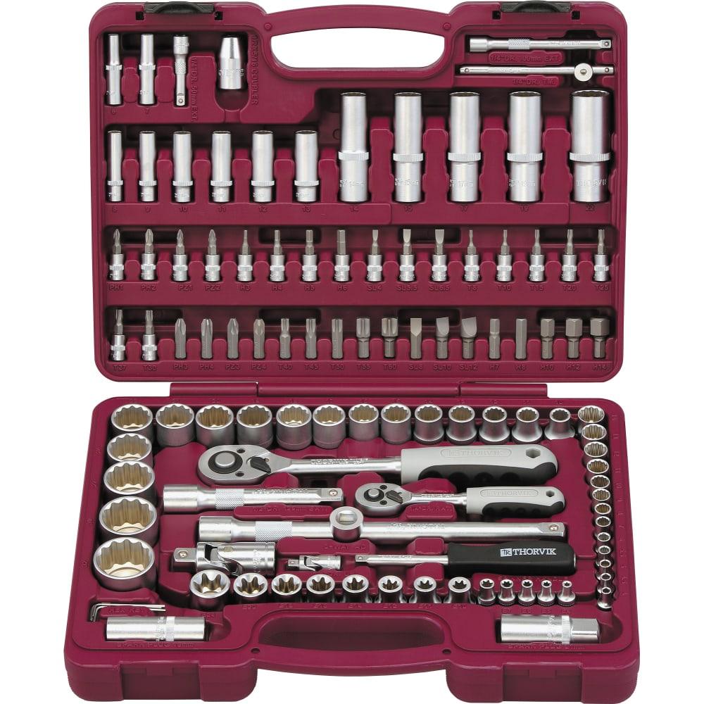Универсальный набор инструмента thorvik 1/4 1/2 uts0108/12.