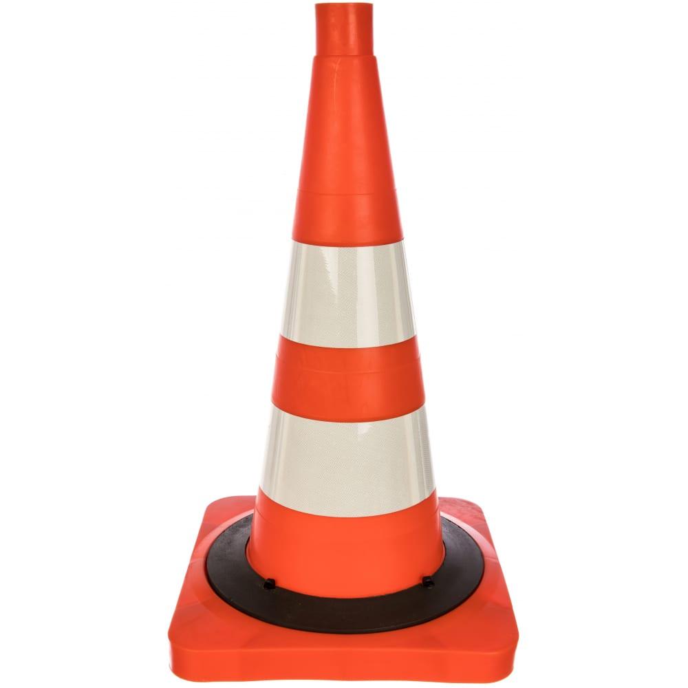 Купить Сигнальный дорожный конус, 520 мм, оранжевый, с 2-мя светоотражающими полосами протэкт кс-2.8.0-п
