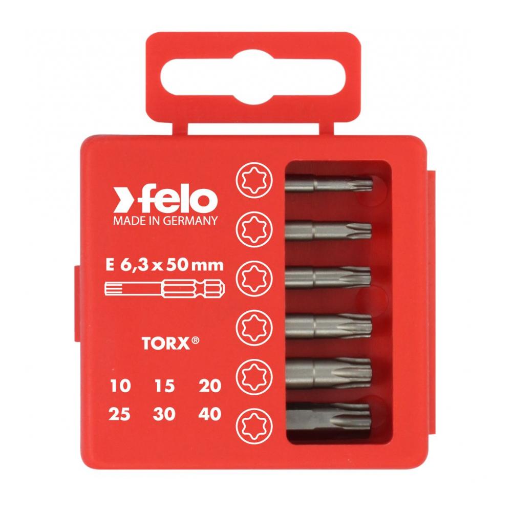 Купить Набор бит tx industrial 50 мм в кейсе, 6 шт. felo 03691516