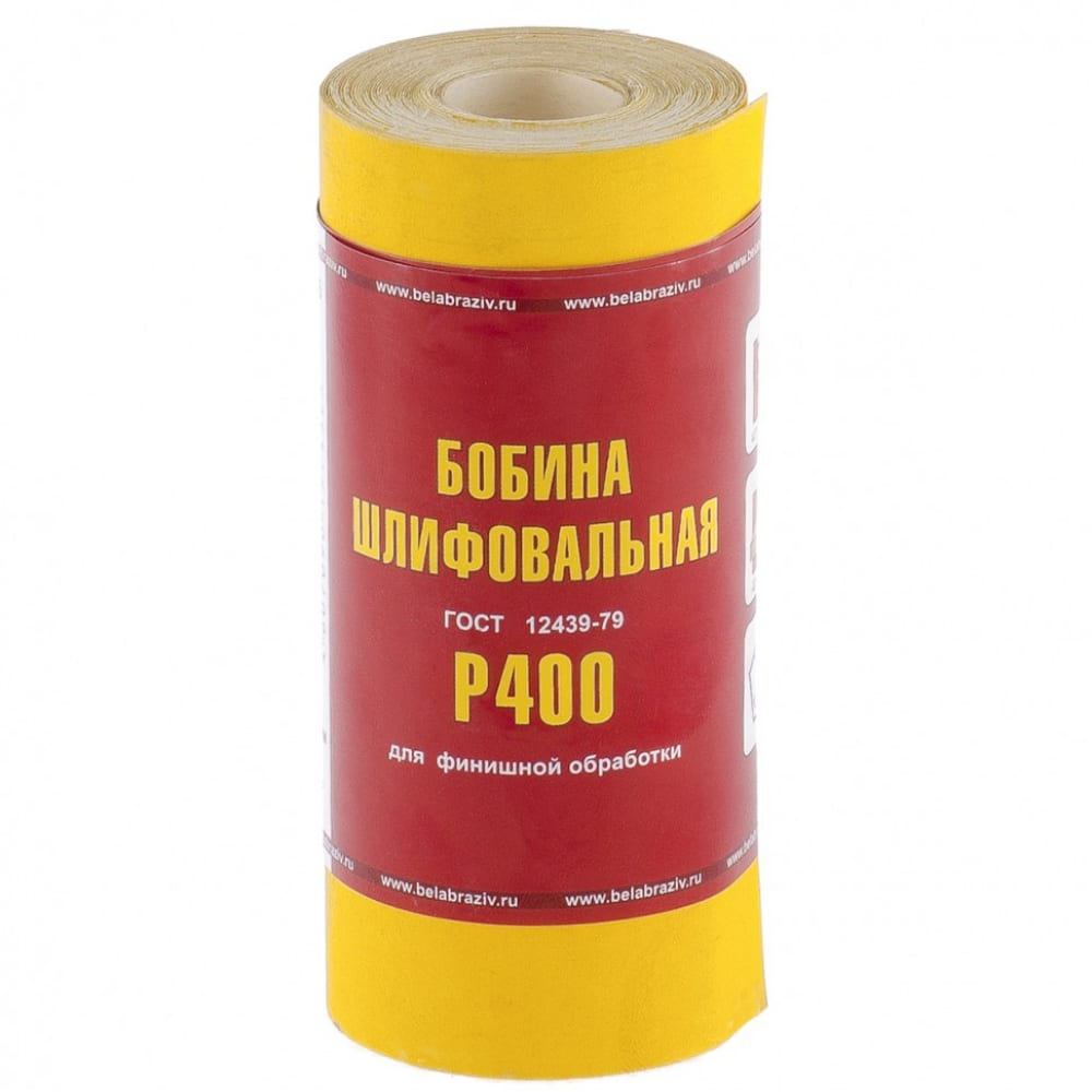 Шкурка на бумажной основе, lp41c (зернистость р400, 115 мм, 5 м) мини-рулон россия 75637