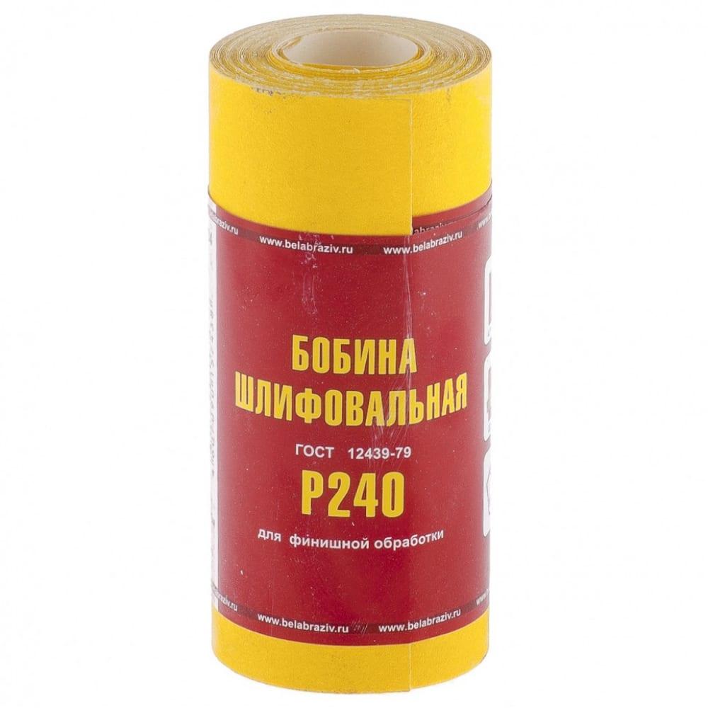 Шкурка на бумажной основе,lp41c (зернистьсть р240, 115 мм, 5 м) мини-рулон россия 75634