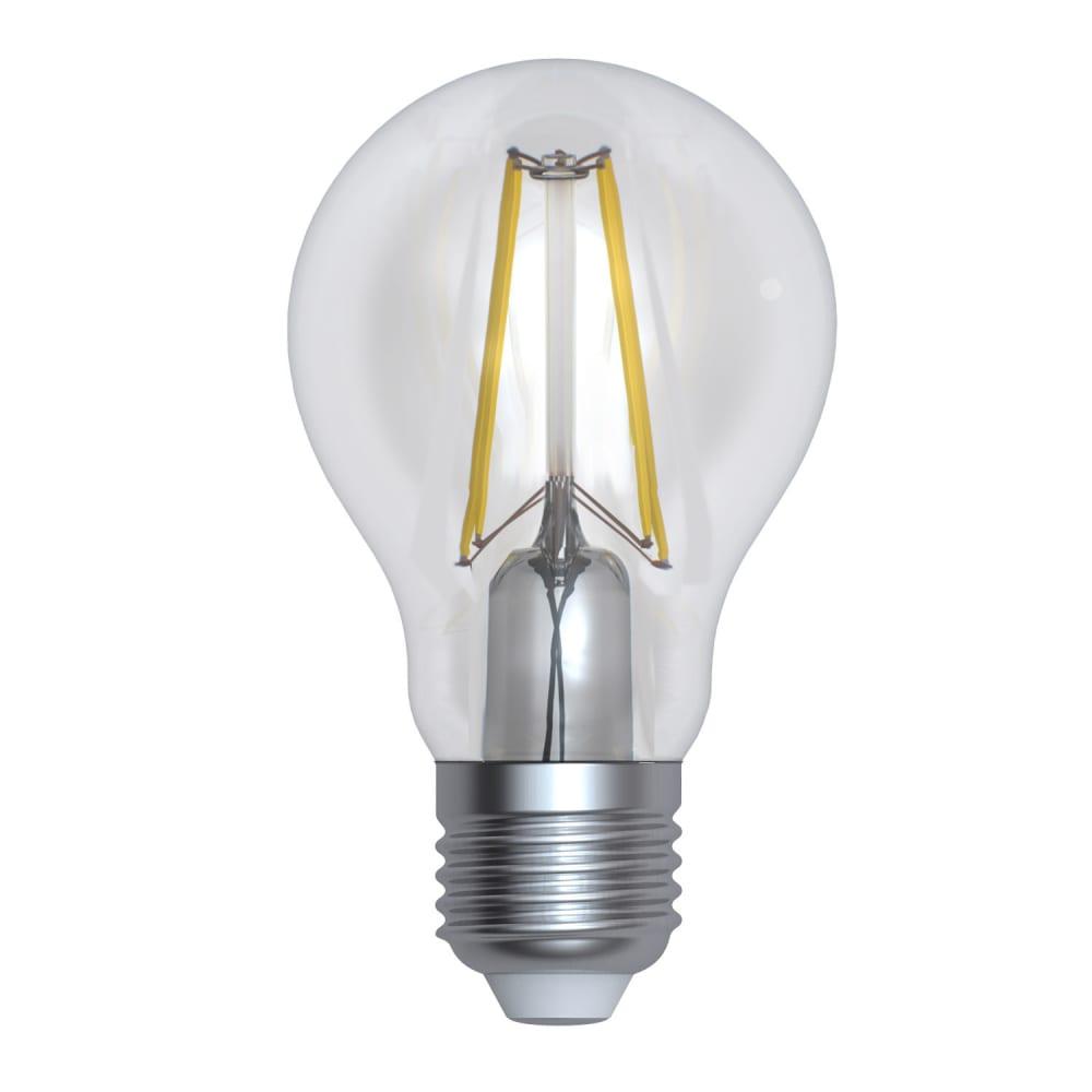 Диммируемая светодиодная лампа uniel форма а серия air led-a60-12w/3000k/e27/cl/dim ul-00005183