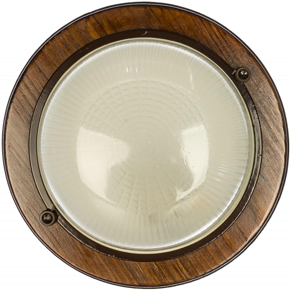 Накладной светильник feron ip54 220v 60вт е27дерево орех круг нбо 03-60-021 11573.