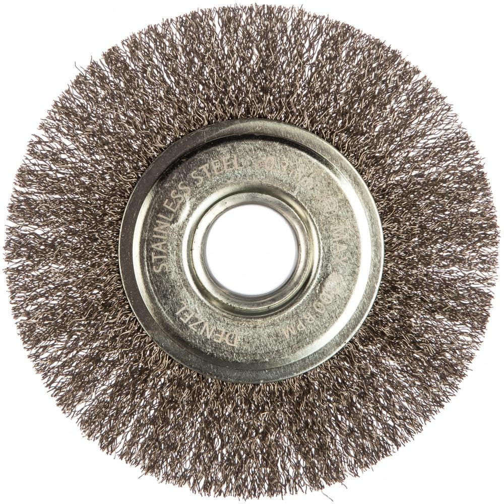 Щетка плоская (125х22.2 мм; витая нержавеющая проволока
