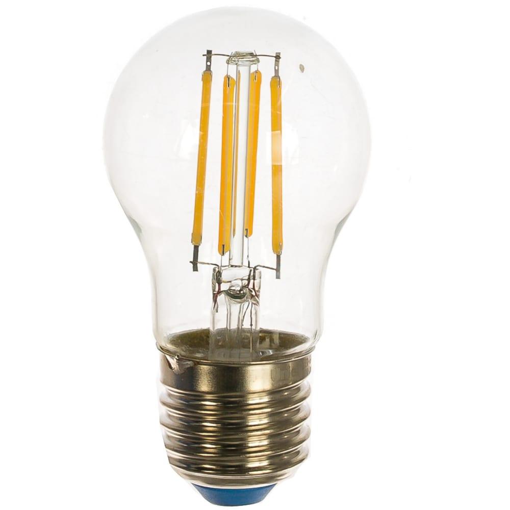 Светодиодная лампа uniel форма шар серия sky led-g45-11w/3000k/e27/cl pls02wh ul-00005178