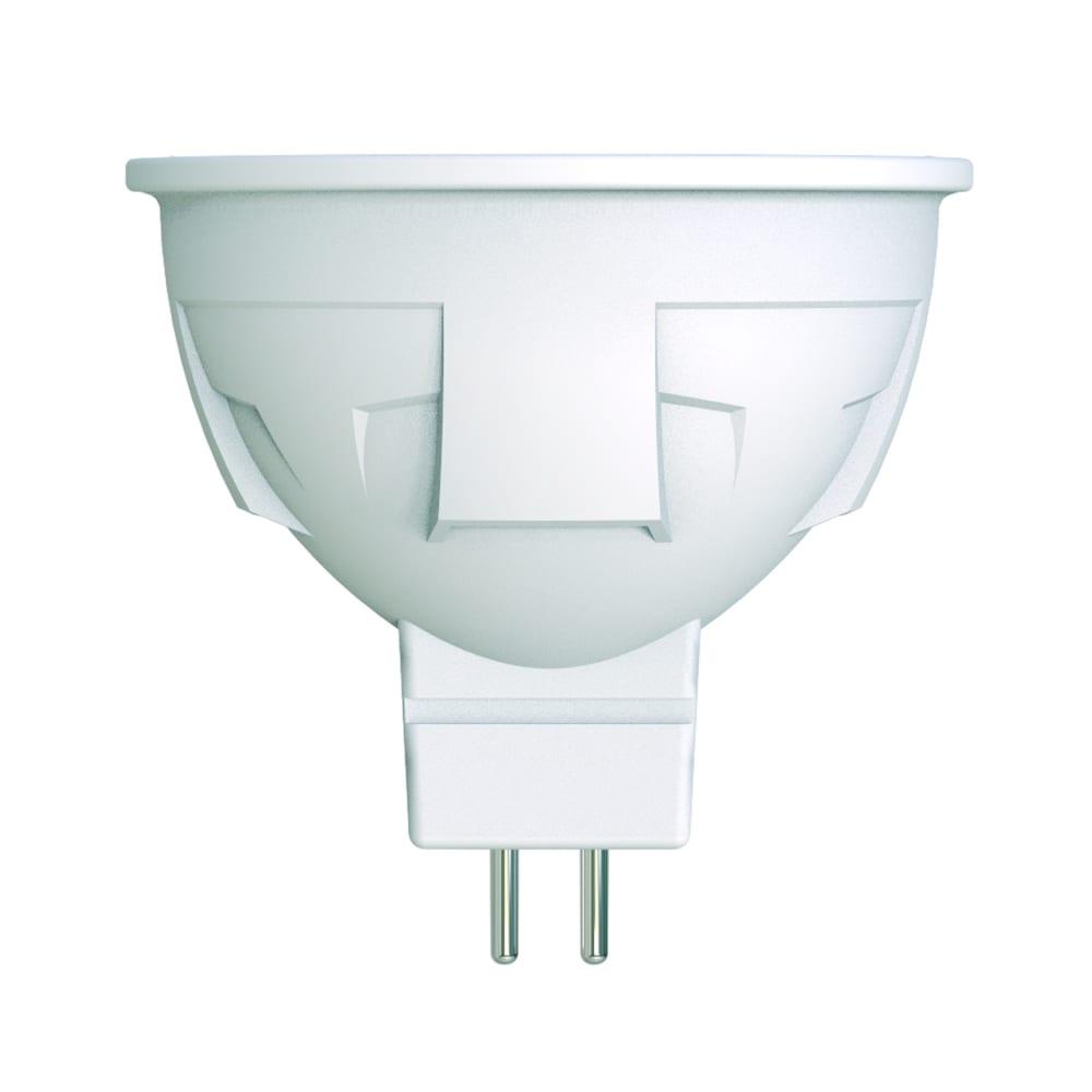 Диммируемая светодиодная лампа uniel форма jcdr серия яркая led-jcdr 6w/nw/gu5.3/fr/dim plp01wh ul-00003989