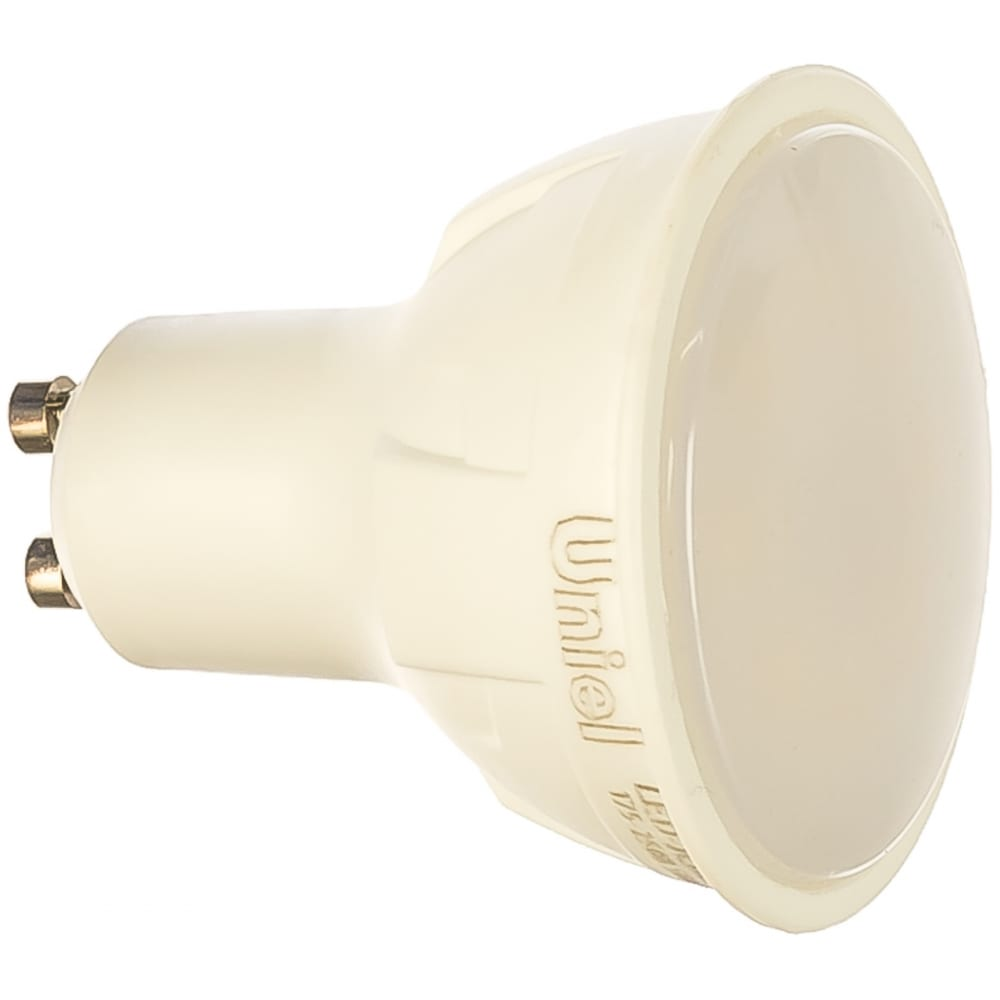 Купить Диммируемая светодиодная лампа uniel форма jcdr серия яркая led-jcdr 6w/nw/gu10/fr/dim plp01wh ul-00003988