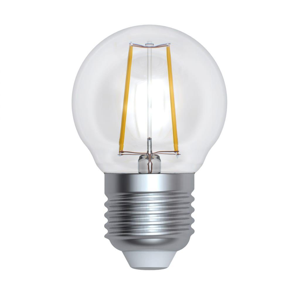 Светодиодная лампа uniel форма шар серия sky led-g45-9w/3000k/e27/cl pls02wh ul-00005174