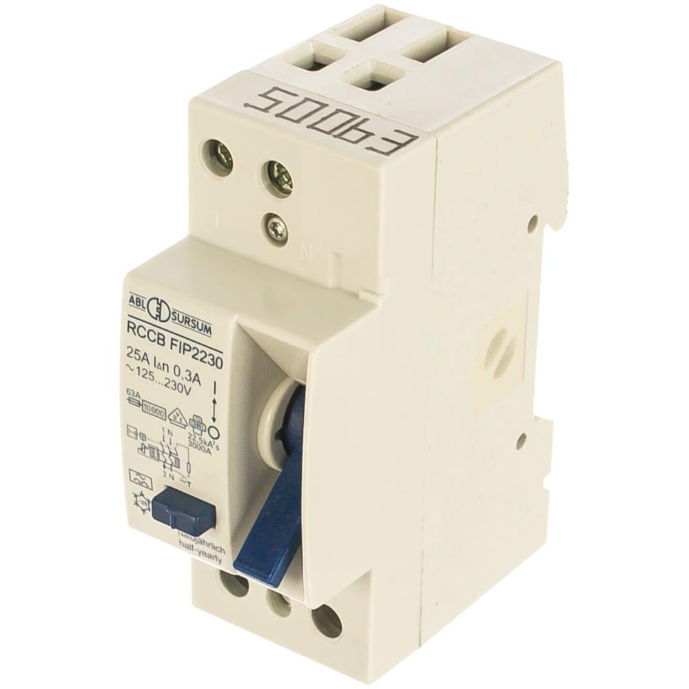 Устройство защитного отключения abl узо 2p 25 a 300 мa, тип а fip22.30 rp2230