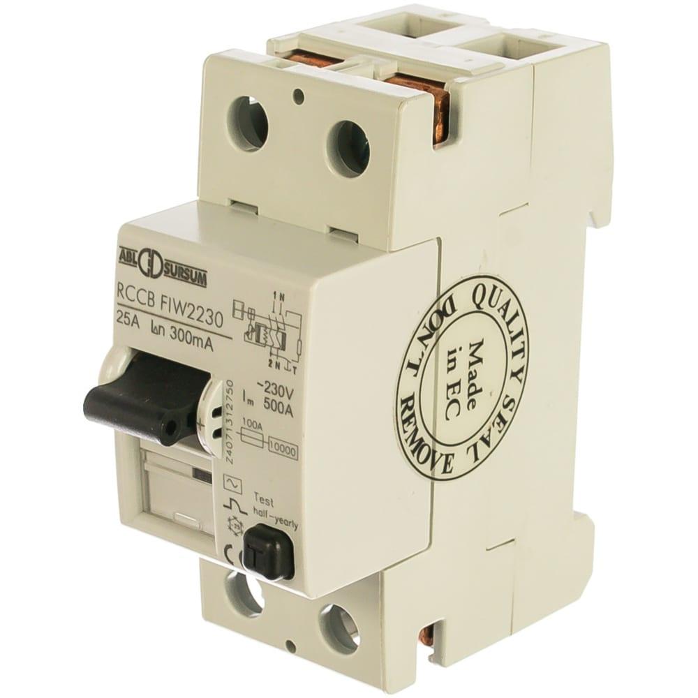 Устройство защитного отключения abl узо 2p 25 a 300 мa, тип аc fiw2230 rw2230