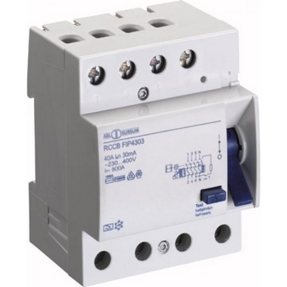 Устройство защитного отключения abl узо 4p 16 a 300 мa, тип аc fiw4130 rw4130