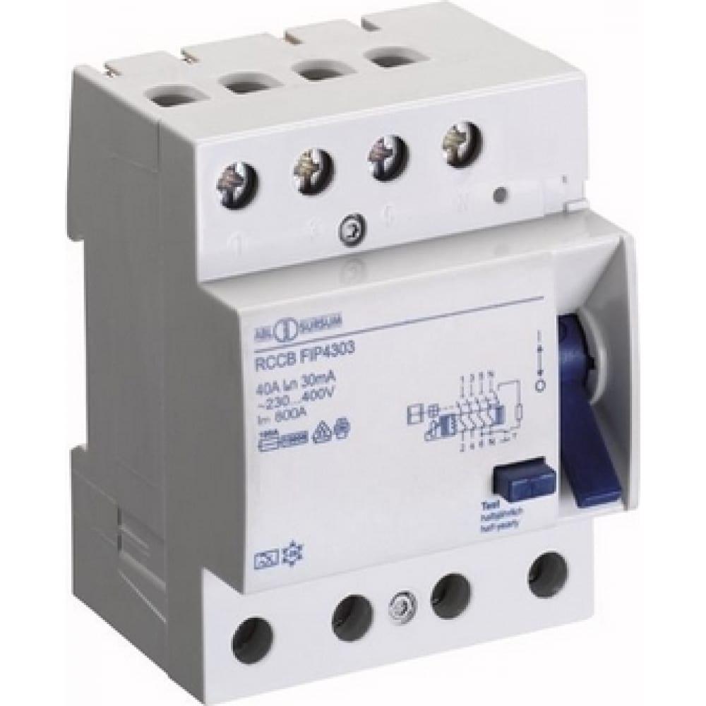 Устройство защитного отключения abl узо 4p 16 a 100 мa, тип аc fiw4110 rw4110