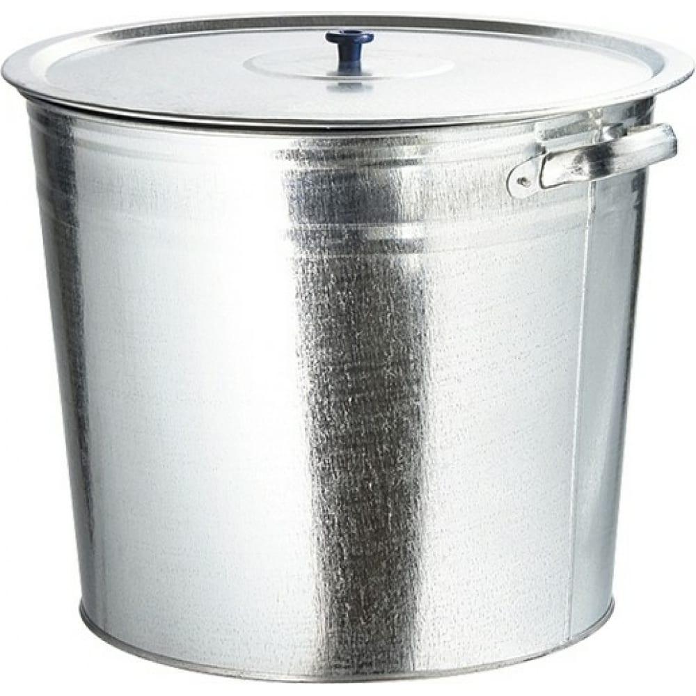 Купить Оцинкованный бак для воды с крышкой россия 32л, без крана 67549