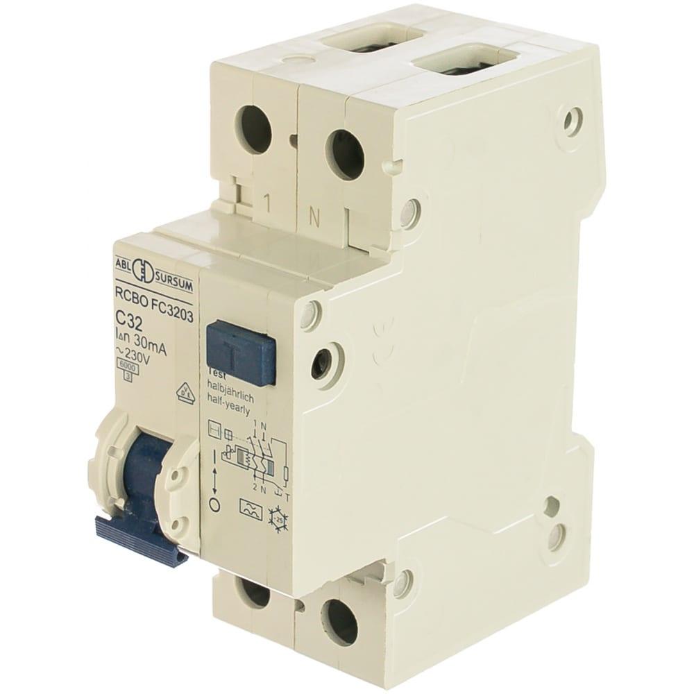 Дифференциальный автомат abl 1p+n, c, 32 а, 10 ка, 30 мa, тип а fc3203 rc3203