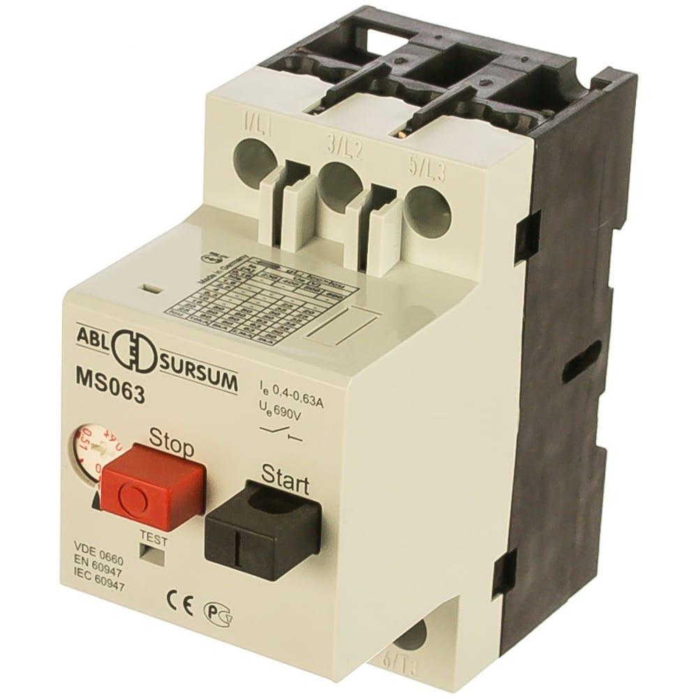 Автомат с регулируемой тепловой защитой abl 0.4 - 0.63 а, 10 ка ms063