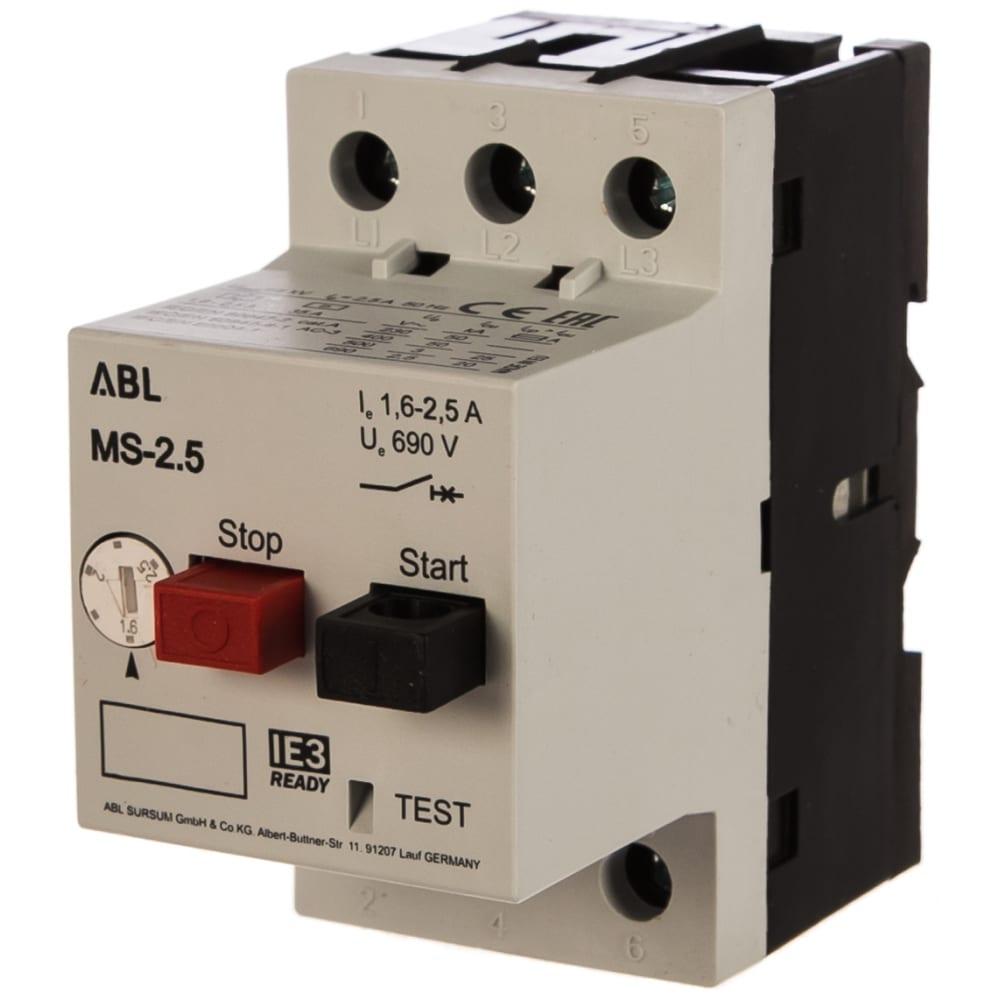 Автомат с регулируемой тепловой защитой abl 1.6 - 2.5 а, 10 ка ms2.5