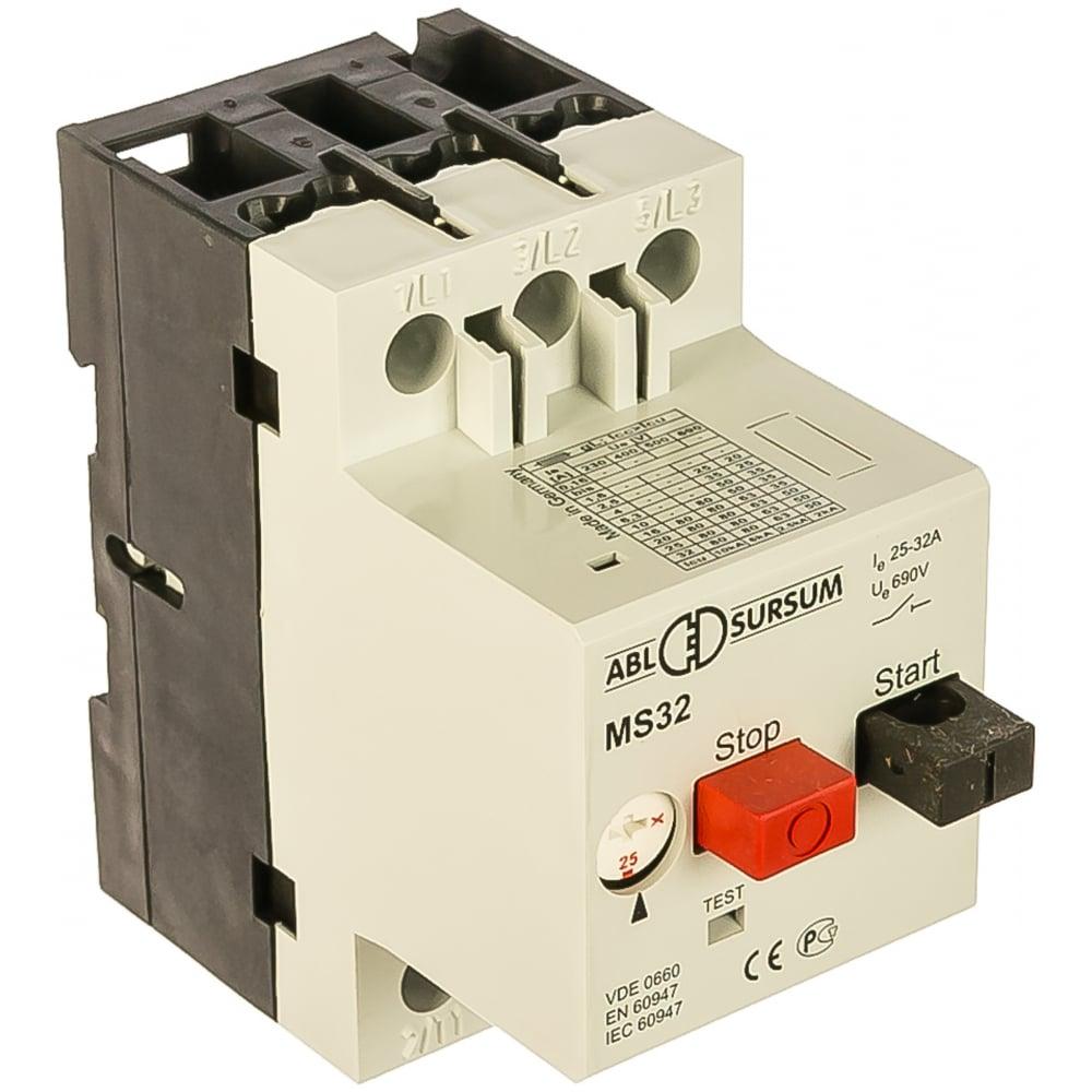 Автомат с регулируемой тепловой защитой abl 25 - 32 а, 10 ка ms32