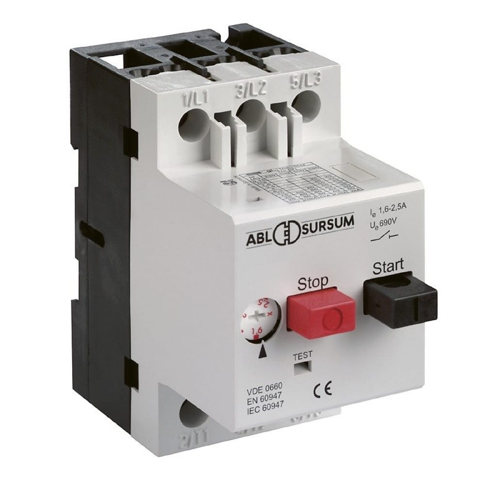 Автомат с регулируемой тепловой защитой abl 4 - 6.3 а, 10 ка ms6.3