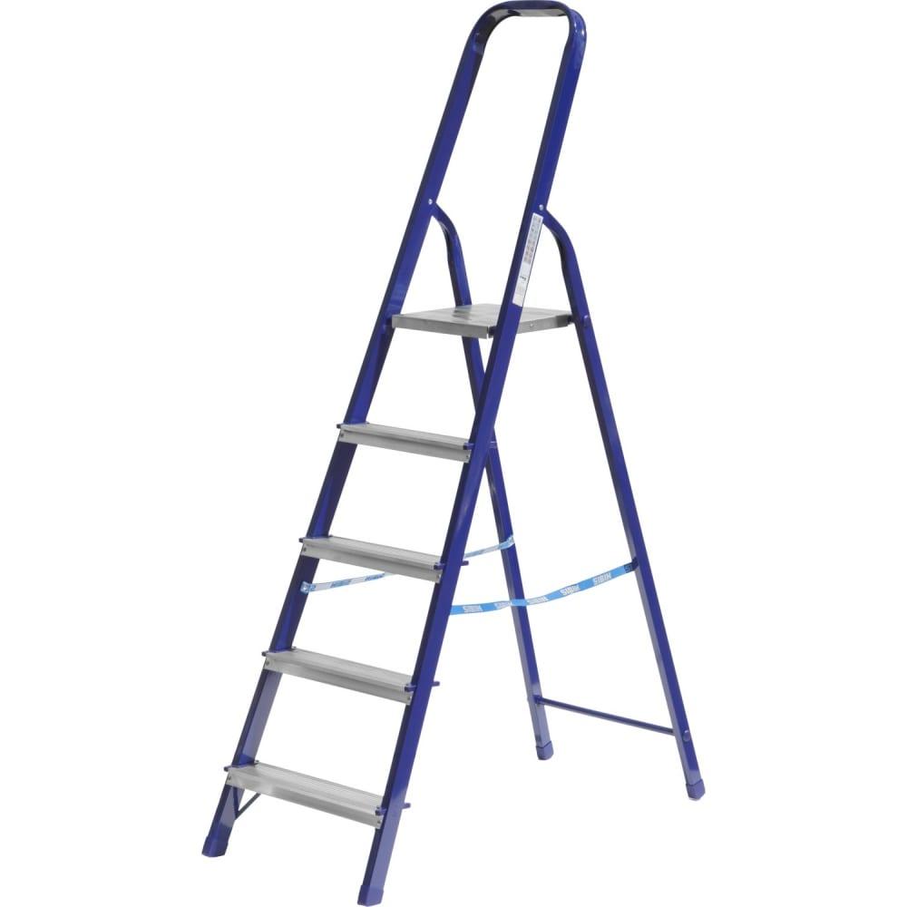 Купить Стальная лестница-стремянка сибин 5 ступеней 38803-05