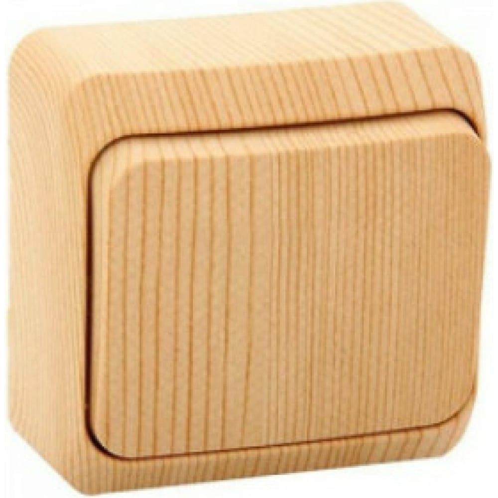 Переключатель schneider electric lexel этюд дача сосна 1-клавишный, наружный ba10-004d