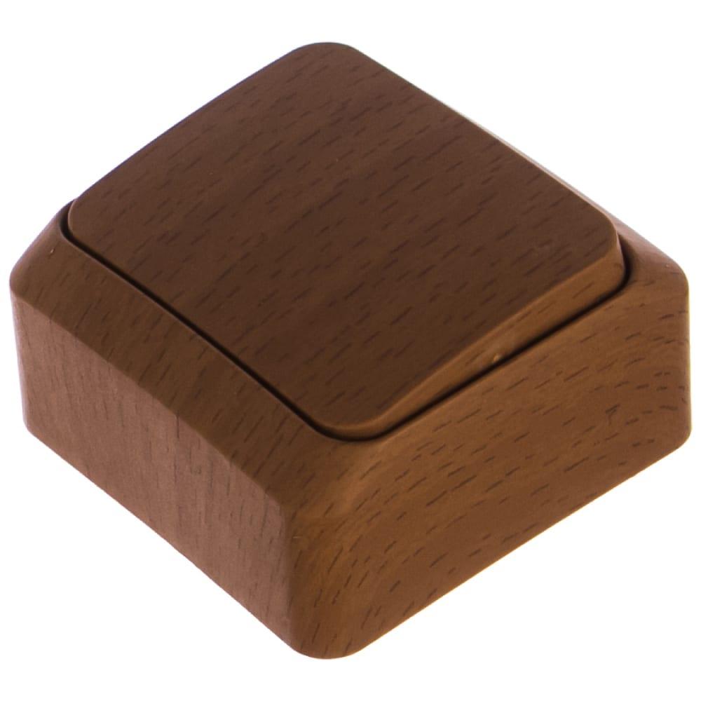 Переключатель schneider electric lexel этюд дача темный бук 1-клавишный, наружный ba10-004t