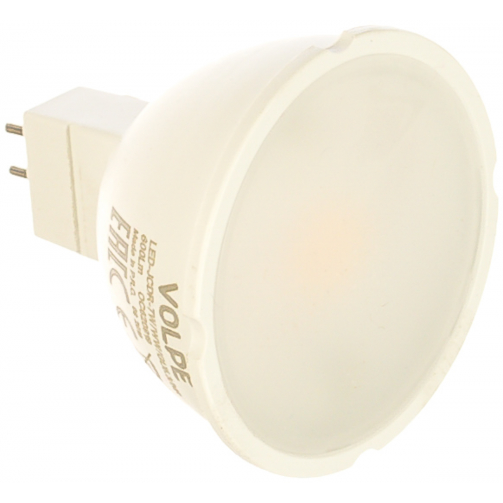 Светодиодная лампа volpe. форма jcdr, матовая. серия norma led-jcdr-7w/ww/gu5.3/nr ul-00003839