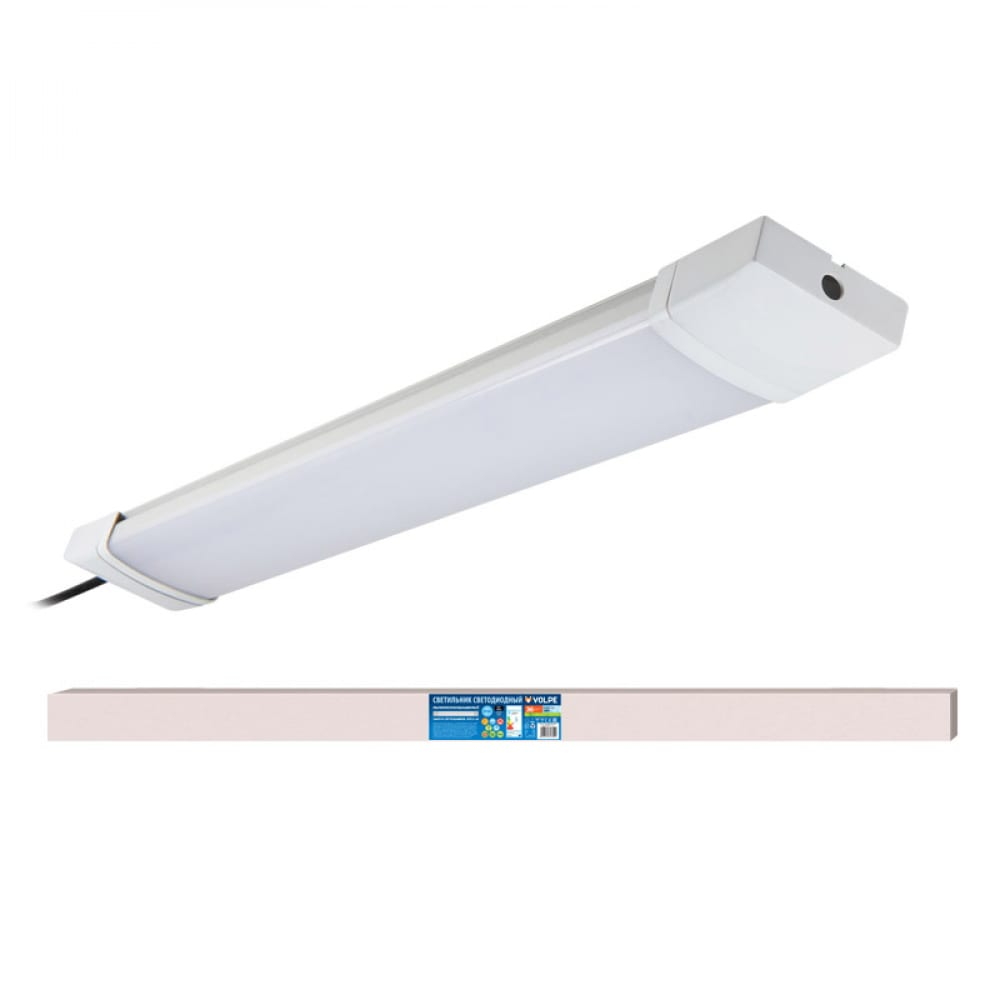 Светодиодный влагозащищенный светильник volpe накладной ult-q219 36w/4000k ip65 white ul-00004988.