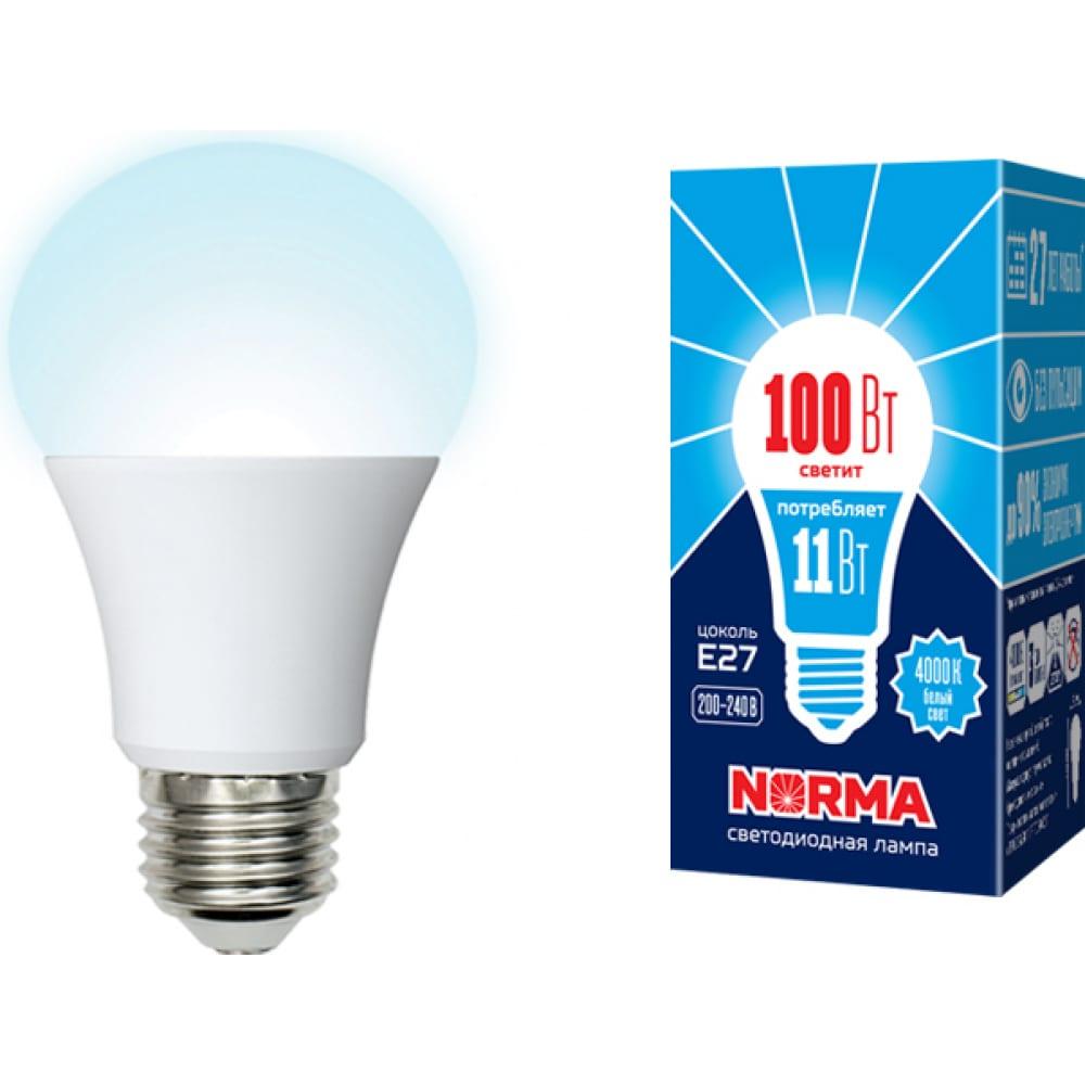 Светодиодная лампа volpe. форма a, матовая led-a60-11w/nw/e27/fr/nr ul-00003786