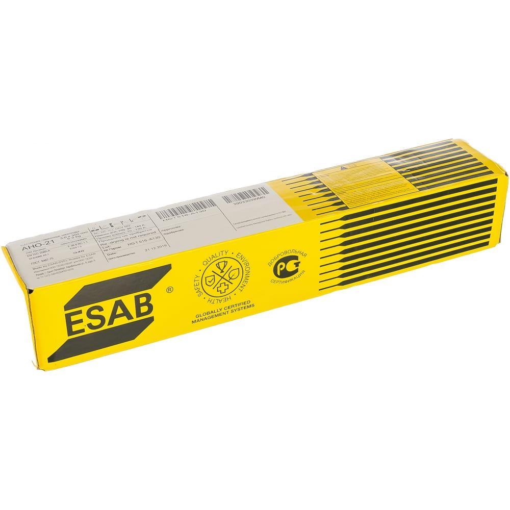 Электроды ано-21 (3 мм; 5.3 кг) esab св000017125